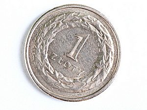 One Zloty Coin Macro Royalty Free Stock Photography - Image: 16146697