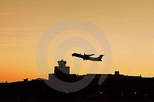 Turboprop Plane Silhouette Stock Images - Image: 16151864