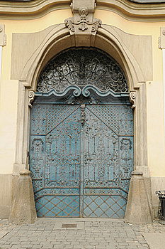 Blue Old Door Royalty Free Stock Image - Image: 16152796
