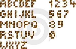 Pixel Alphabet Royalty Free Stock Photography - Image: 16152837