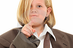Girl In Suit Royalty Free Stock Photography - Image: 16154207