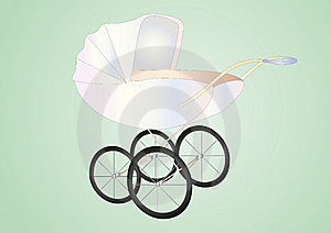 Antique Baby Buggy Royalty Free Stock Photos - Image: 16160068