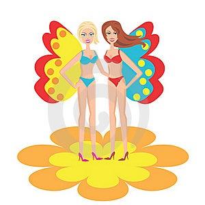 Le ragazze in costume da bagno fotografie stock libere da diritti immagine 16162768 - Ragazze belle in costume da bagno ...