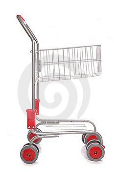 Shopping Trolley Cutout Royalty Free Stock Photos - Image: 16163588