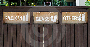 Containers Signs For Garbage Separation Royalty Free Stock Photography - Image: 16165847