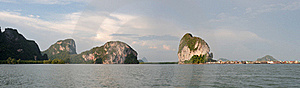 Thailand  Phang Nga - Panorama Royalty Free Stock Photography - Image: 16165967