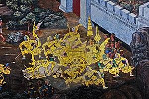 Public Art Painting At Wat Phra Kaew Stock Image - Image: 16166041