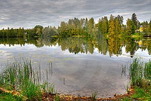 HDR Photo Of Finnish Scenery Royalty Free Stock Image - Image: 16166586