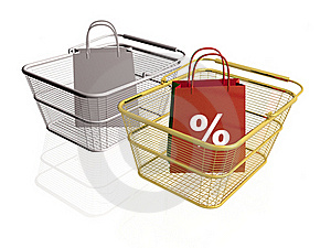 Shop Bags And Baskets Stock Image - Image: 16168131