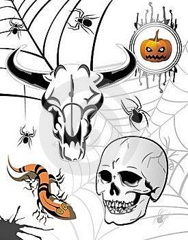 Set Of Halloween Elements Stock Photography - Image: 16168772