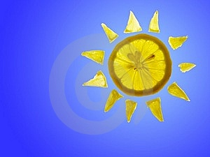 Sun Lemon With Blue Copyspace Stock Images - Image: 16169444
