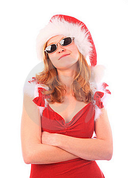 Miss Santa Is A Cool Girl Royalty Free Stock Photography - Image: 16169457