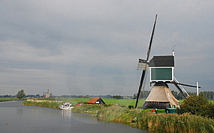 Dutch Windmill Stock Images - Image: 16169964