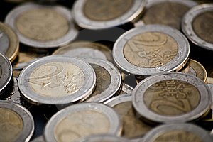 Pile Of Euro Coins Stock Photography - Image: 16171572