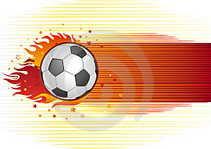 Soccer And Flame Stock Image - Image: 16172041