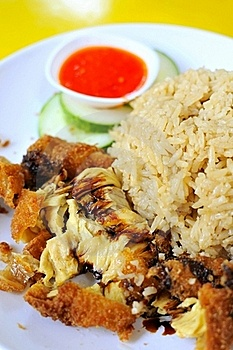 Traditional Chicken Rice Delicacy Royalty Free Stock Photo - Image: 16172385