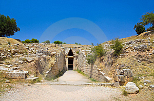 Treasury In Mycenae Town, Greece Royalty Free Stock Images - Image: 16172389