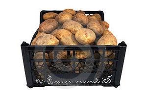 The Box Of Bright Yellow Potatoes Royalty Free Stock Photo - Image: 16173005