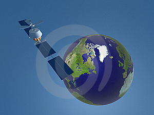 3D Representation Of Satellite In Space Royalty Free Stock Photo - Image: 16173375