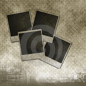 Blank Photo Frames On Old Paper Royalty Free Stock Photography - Image: 16174727