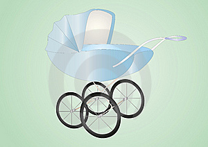 Antique Baby Boy Buggy Royalty Free Stock Image - Image: 16174906