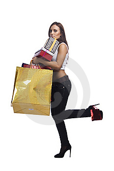 Woman With Packages Stock Photo - Image: 16175020