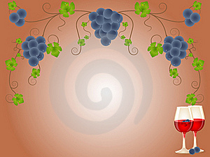 Red Wine And Grapes Stock Photos - Image: 16175583