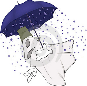 Evil Spirits And Magic Umbrella Royalty Free Stock Photography - Image: 16176007