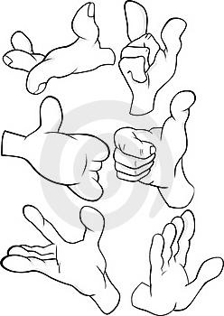 The Hands Complete Set Stock Photography - Image: 16176092