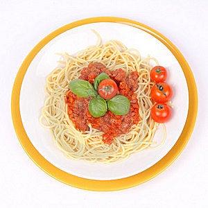 Spaghetti Bolognese Stock Image - Image: 16177601