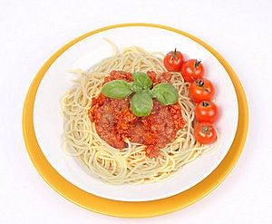 Spaghetti Bolognese Royalty Free Stock Image - Image: 16177606