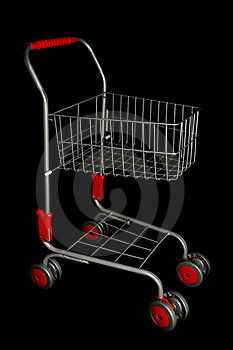 Shopping Trolley Royalty Free Stock Photo - Image: 16180655