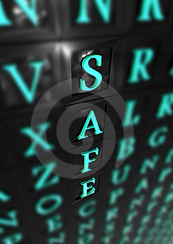 Safe 3d Word Stock Photography - Image: 16183692