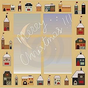 Christmas Window Royalty Free Stock Photos - Image: 16186298