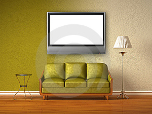 Double Coloured Interior Of Living Room Stock Images - Image: 16186334