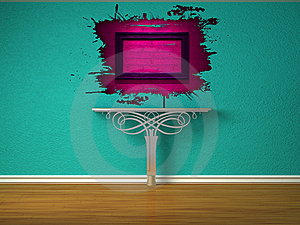 Metallic Console-table And Pink Splash Hole Stock Photos - Image: 16187283