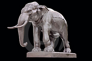 Elephant Sculpture Asian Style Royalty Free Stock Photography - Image: 16187517