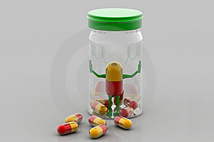 Pills And Bottle Stock Image - Image: 16188351