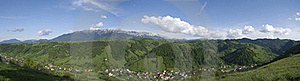 Panorama Moeciu Romania Stock Images - Image: 16188854