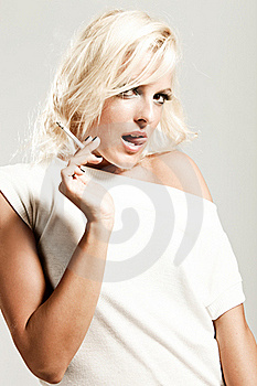 Blond With  Cigarette Royalty Free Stock Images - Image: 16189599