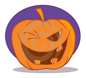Halloween Pumpkin Character Winking Stock Photos - Image: 16189823