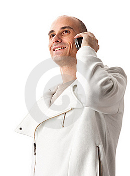 Young Guy Speaking On Cellphone Stock Images - Image: 16191064