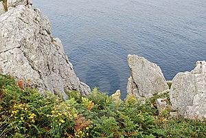 Pointe Du Van Cliff Stock Photo - Image: 16191200