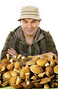 Habitual Gatherer Of Mushrooms Stock Photo - Image: 16191510