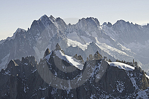Views From L 'Aiguille Du Midi Royalty Free Stock Image - Image: 16193976
