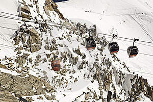 Views From L 'Aiguille Du Midi Royalty Free Stock Image - Image: 16194506