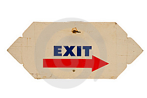 Exit Royalty Free Stock Photography - Image: 16196657