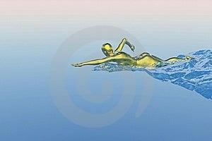 Swimmer Royalty Free Stock Image - Image: 16199006