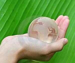 Glass Globe In Hand Royalty Free Stock Photos - Image: 16199018