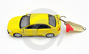 The Car Of Yellow Color Royalty Free Stock Image - Image: 16199896